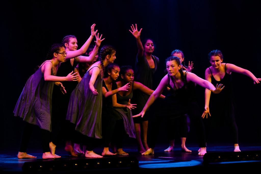 GCSE PE and GCSE Dance students Contemporary piece