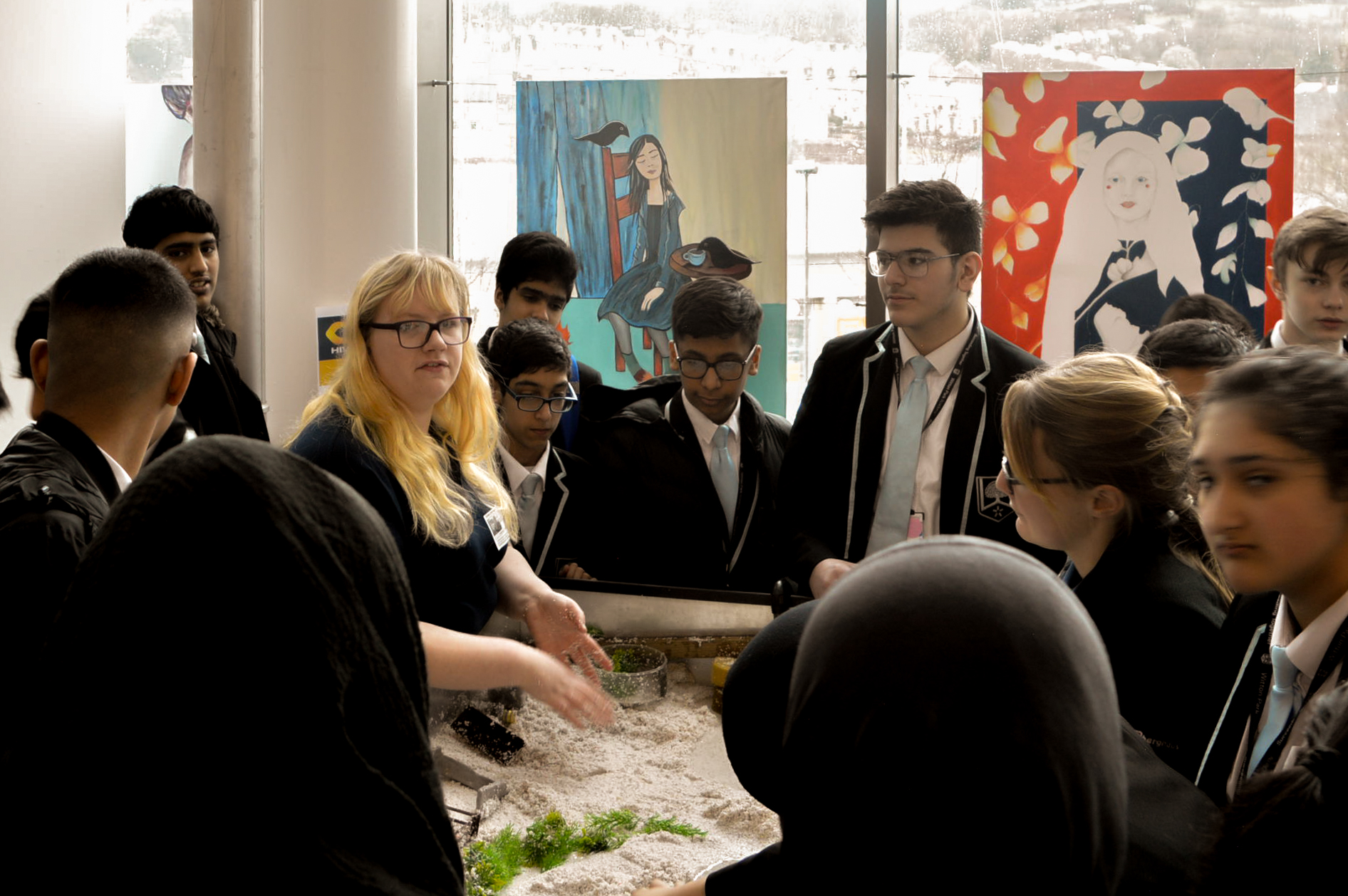 Year 9 pupils learning about their future careers