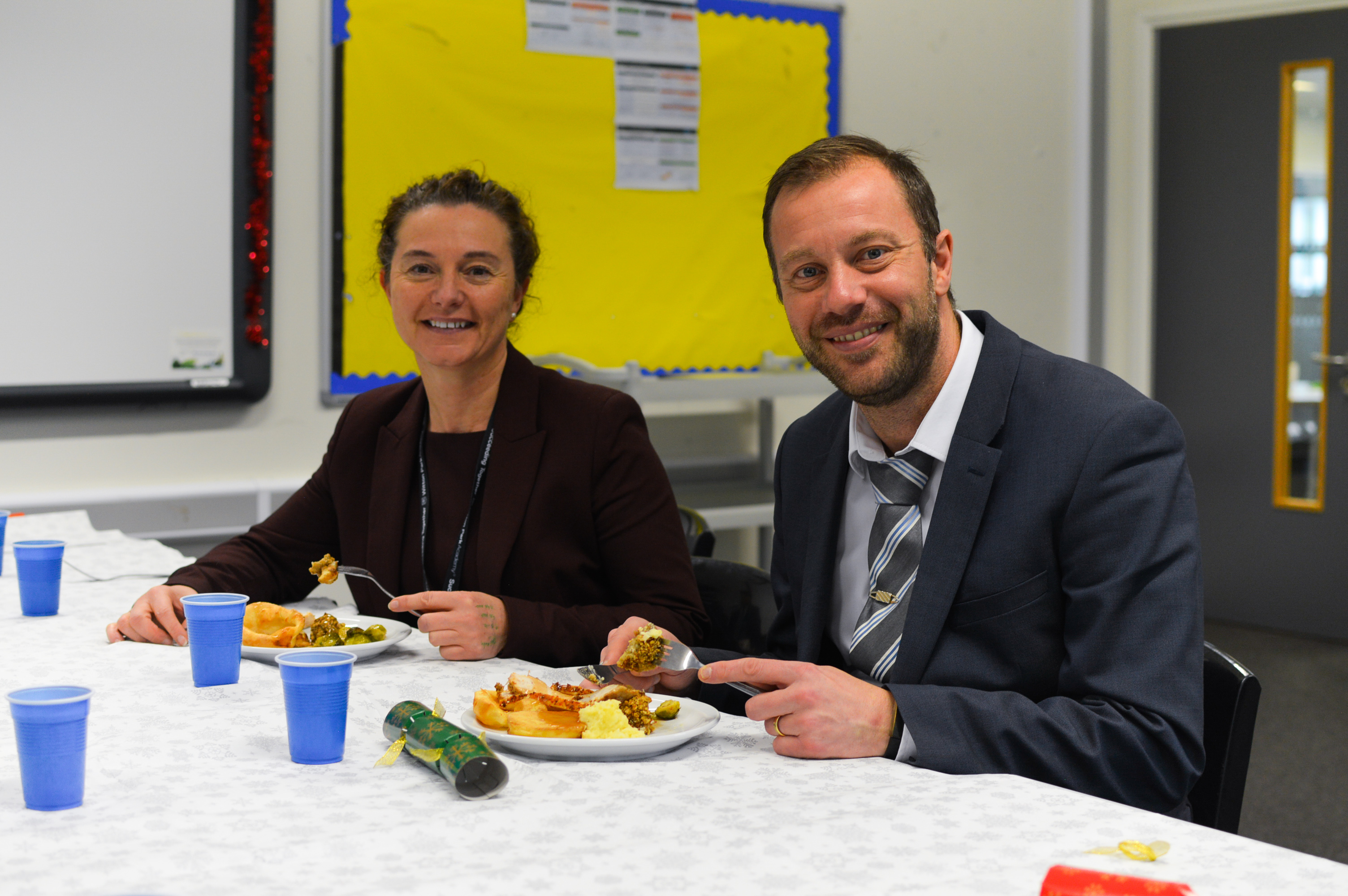 Students cook Christmas Dinner for staff